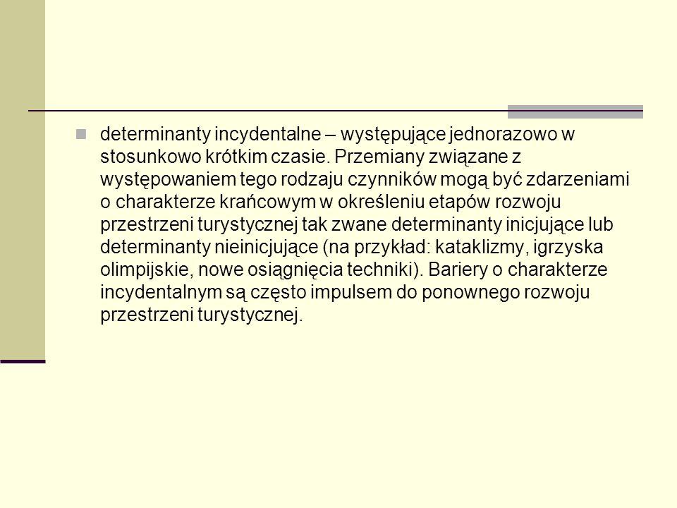determinanty incydentalne – występujące jednorazowo w stosunkowo krótkim czasie.