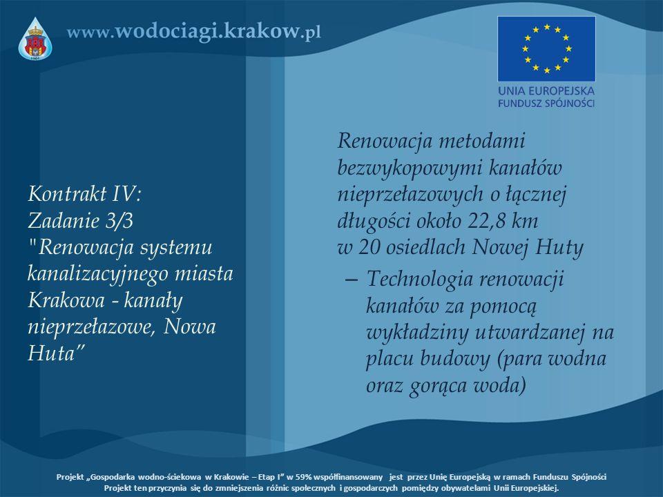 Kontrakt IV: Zadanie 3/3 Renowacja systemu kanalizacyjnego miasta Krakowa - kanały nieprzełazowe, Nowa Huta