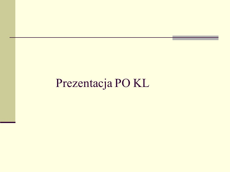 Prezentacja PO KL