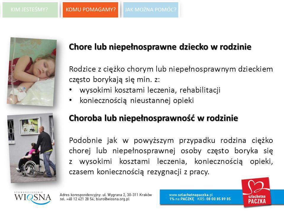 Chore lub niepełnosprawne dziecko w rodzinie