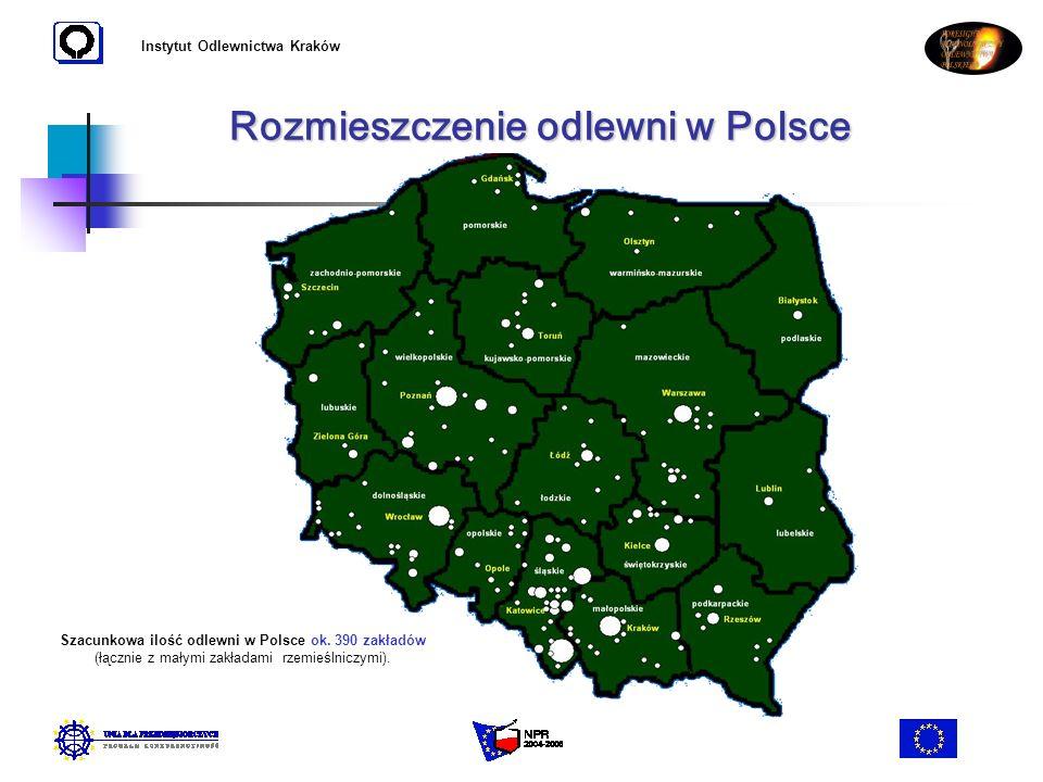 Rozmieszczenie odlewni w Polsce