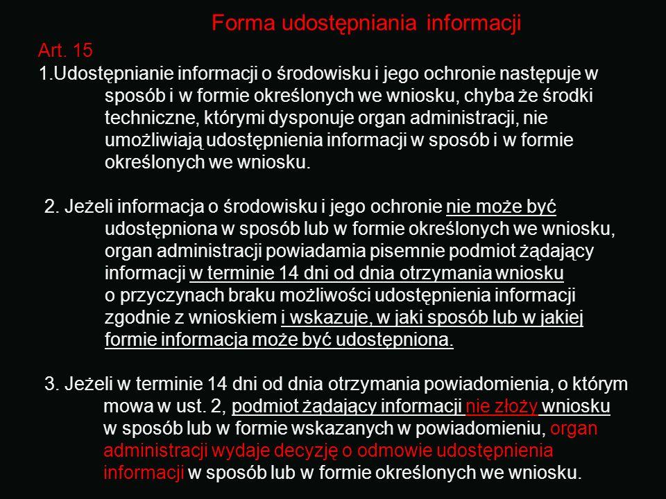 Forma udostępniania informacji