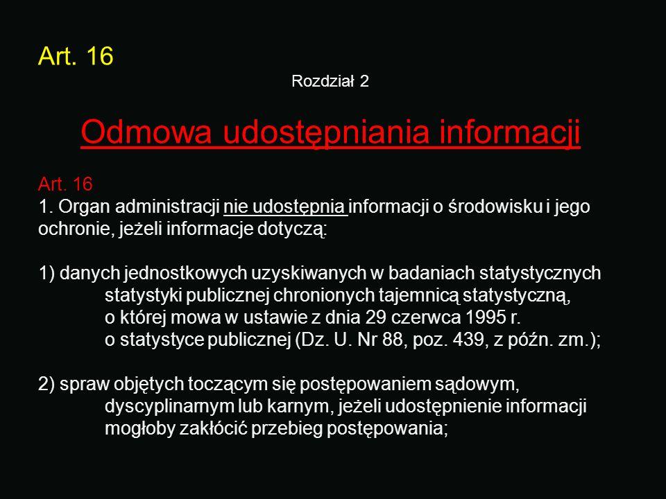 Rozdział 2 Odmowa udostępniania informacji
