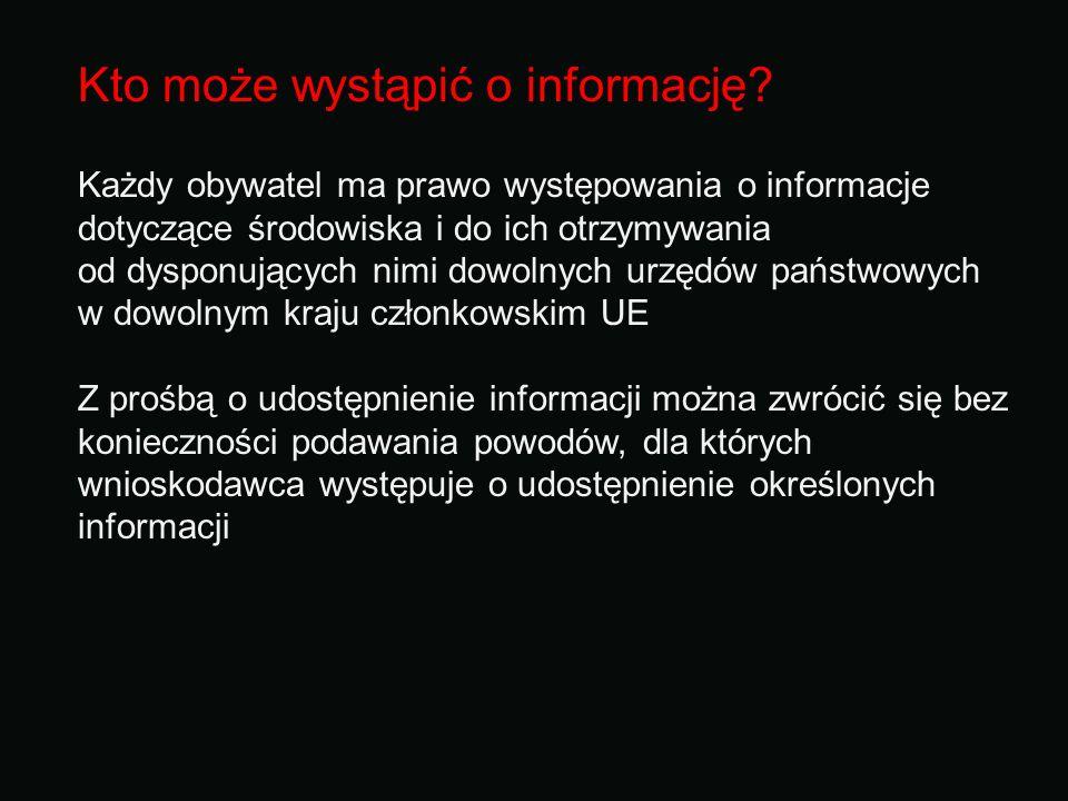 Kto może wystąpić o informację