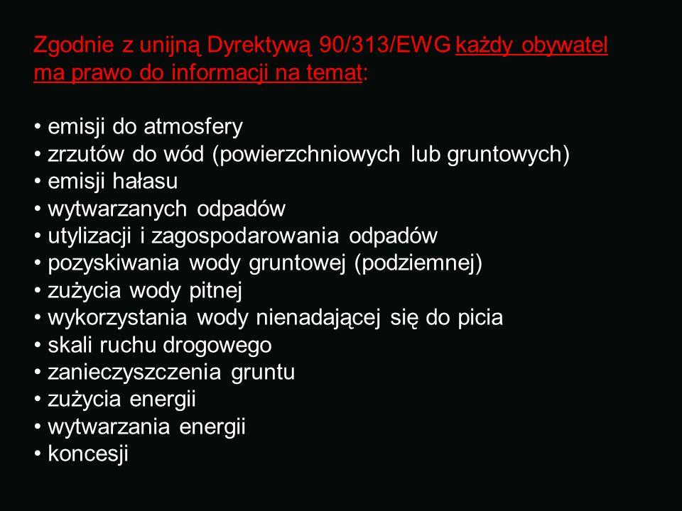 Zgodnie z unijną Dyrektywą 90/313/EWG każdy obywatel