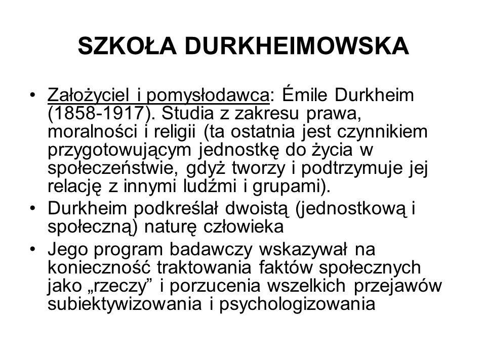 SZKOŁA DURKHEIMOWSKA