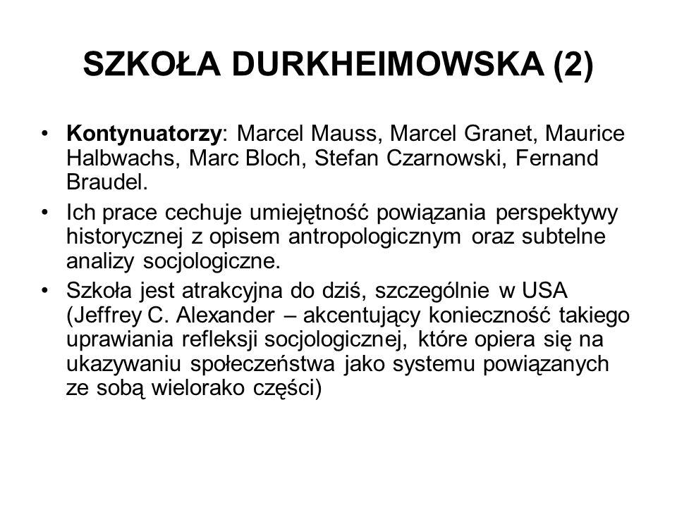 SZKOŁA DURKHEIMOWSKA (2)