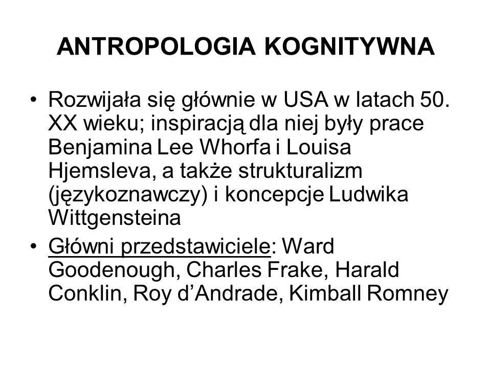 ANTROPOLOGIA KOGNITYWNA