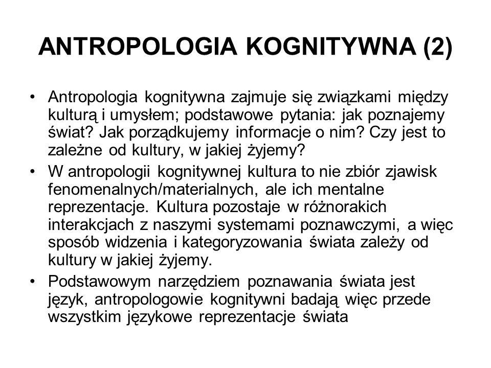 ANTROPOLOGIA KOGNITYWNA (2)