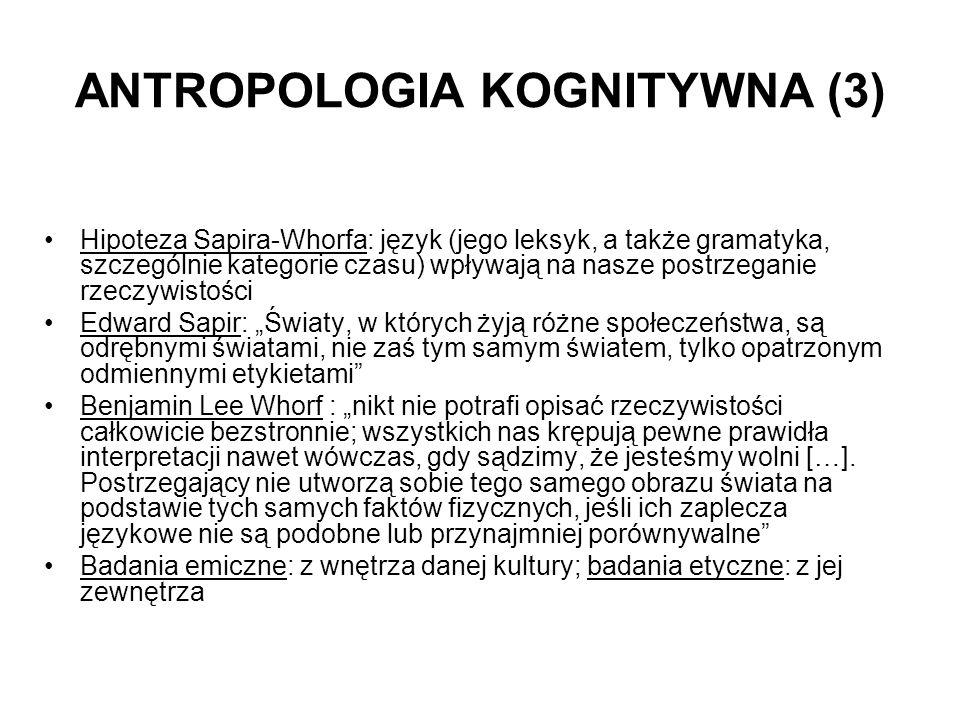 ANTROPOLOGIA KOGNITYWNA (3)
