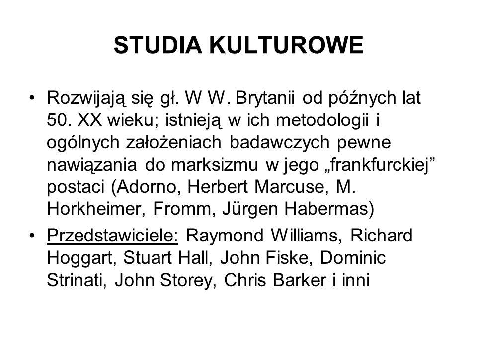 STUDIA KULTUROWE
