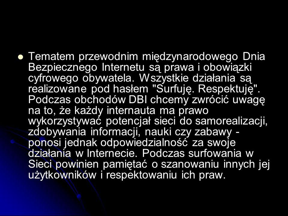 Tematem przewodnim międzynarodowego Dnia Bezpiecznego Internetu są prawa i obowiązki cyfrowego obywatela.