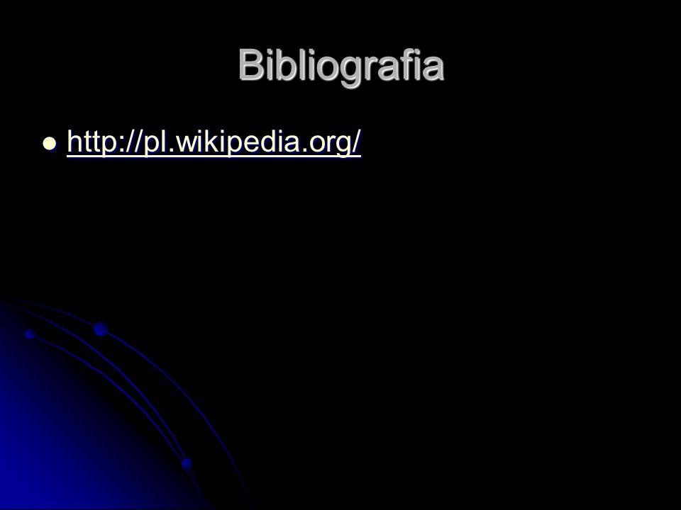 Bibliografia http://pl.wikipedia.org/