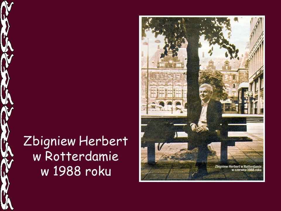 Zbigniew Herbert w Rotterdamie w 1988 roku