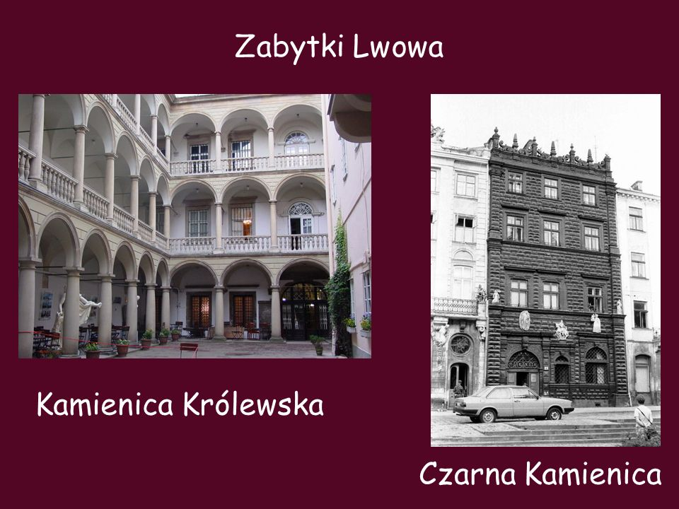 Zabytki Lwowa Kamienica Królewska Czarna Kamienica