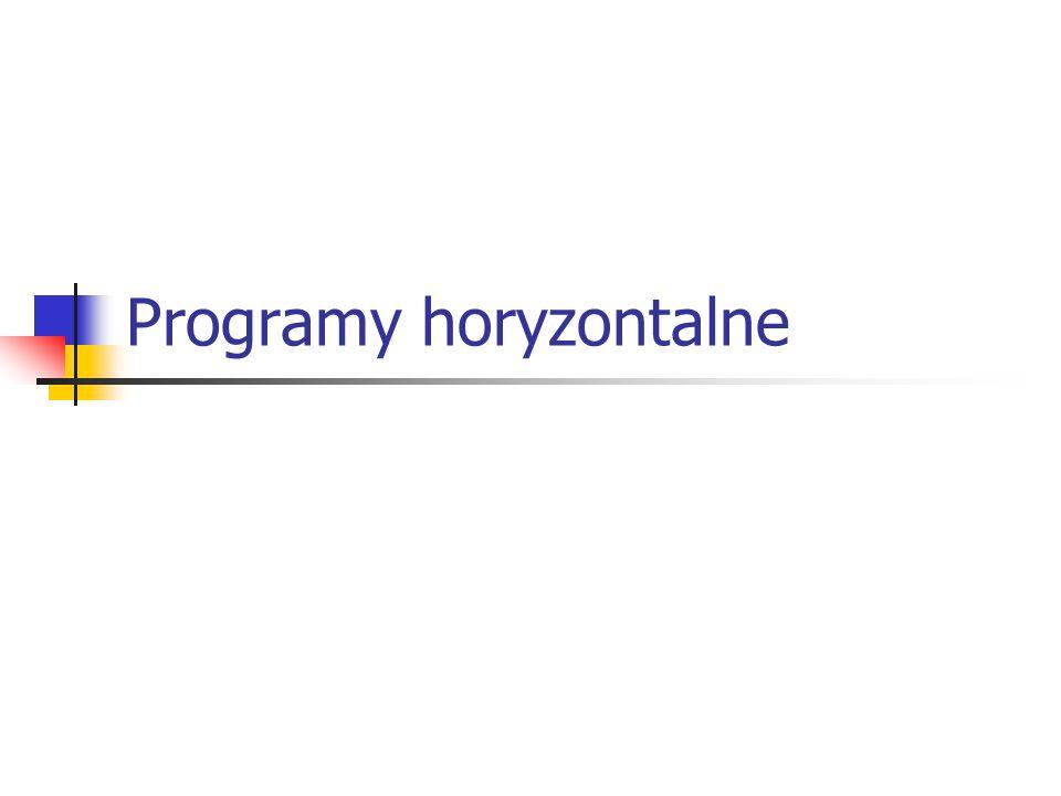 Programy horyzontalne