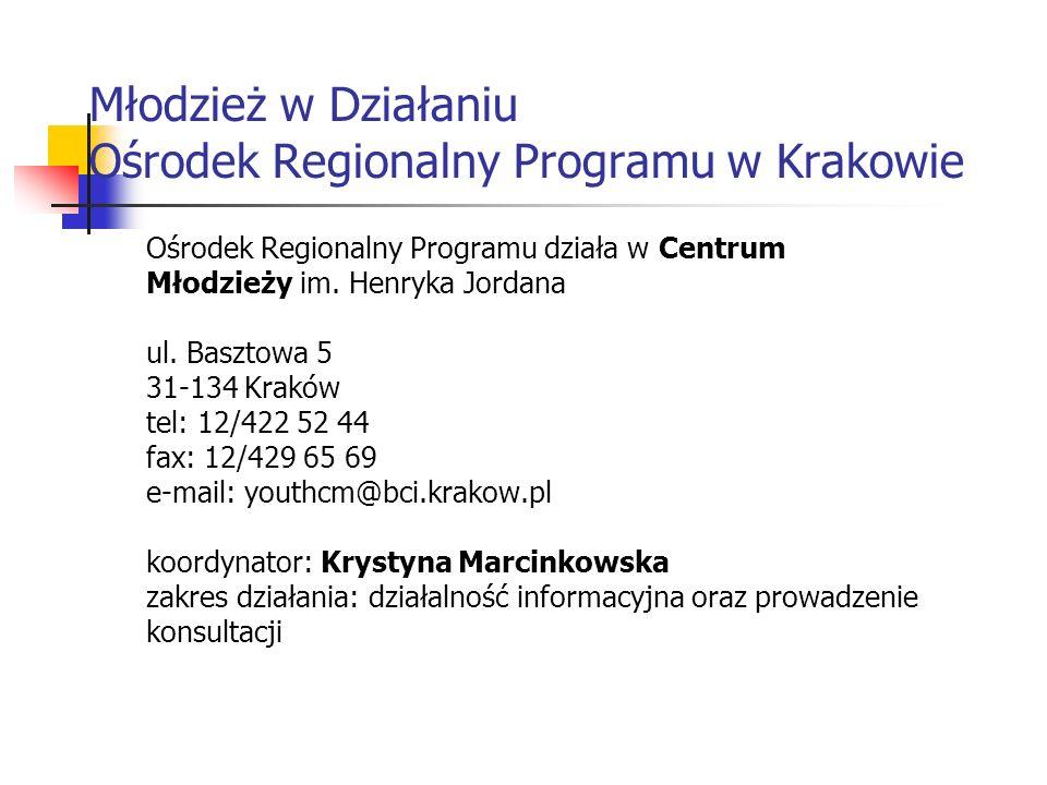 Młodzież w Działaniu Ośrodek Regionalny Programu w Krakowie