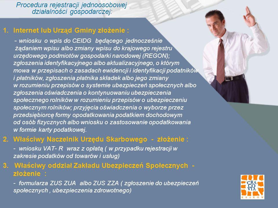 Procedura rejestracji jednoosobowej działalności gospodarczej: