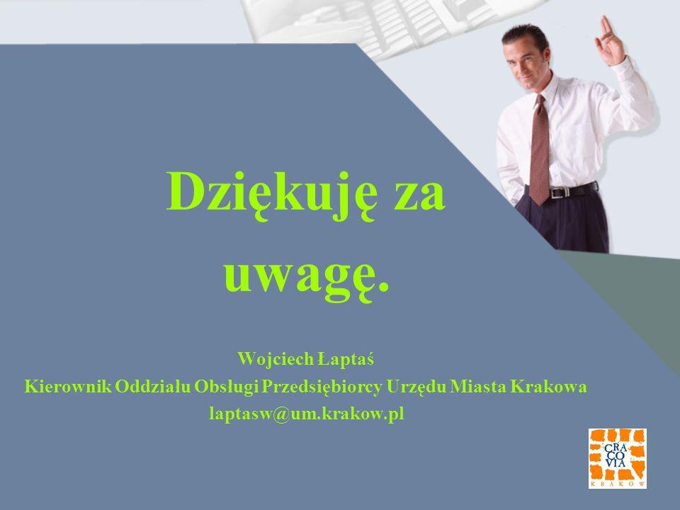 Kierownik Oddziału Obsługi Przedsiębiorcy Urzędu Miasta Krakowa