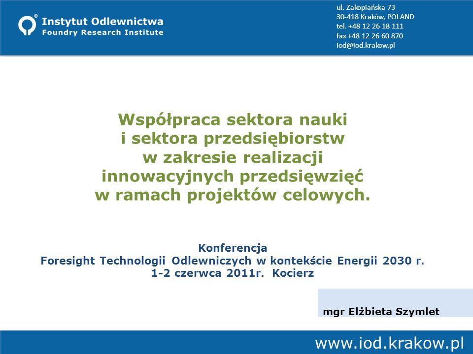 ul. Zakopiańska 73 30-418 Kraków, POLAND tel