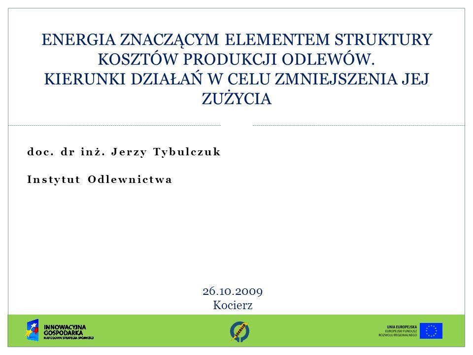 doc. dr inż. Jerzy Tybulczuk Instytut Odlewnictwa