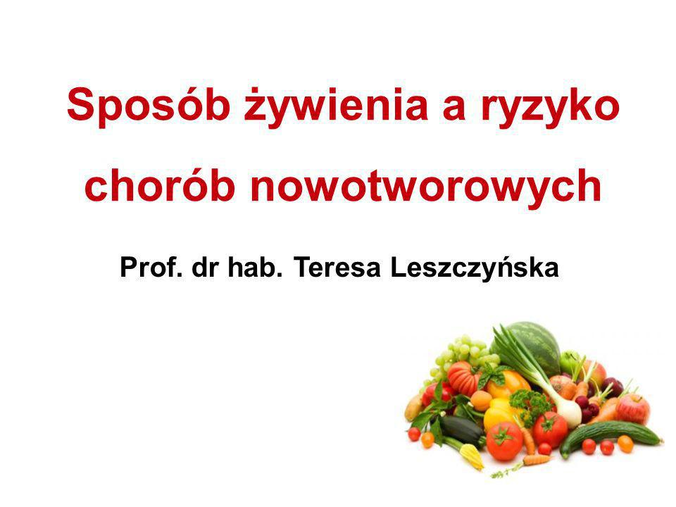 Sposób żywienia a ryzyko chorób nowotworowych