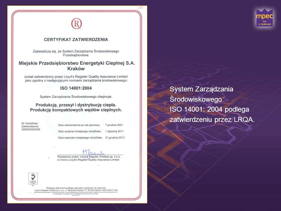 System Zarządzania Środowiskowego ISO 14001: 2004 podlega zatwierdzeniu przez LRQA.