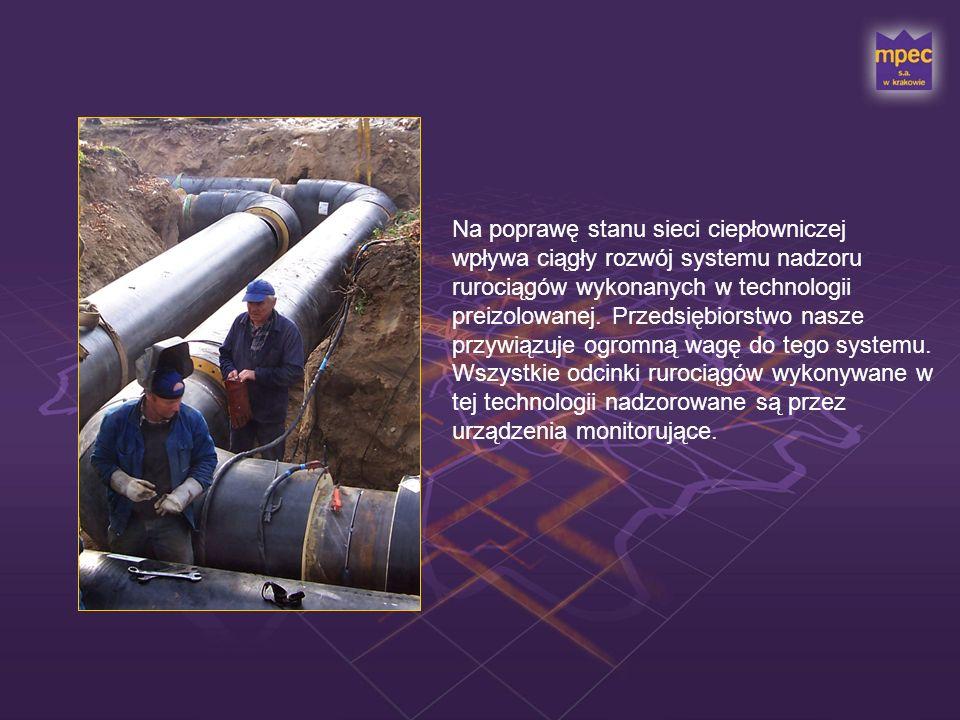 Na poprawę stanu sieci ciepłowniczej wpływa ciągły rozwój systemu nadzoru rurociągów wykonanych w technologii preizolowanej.