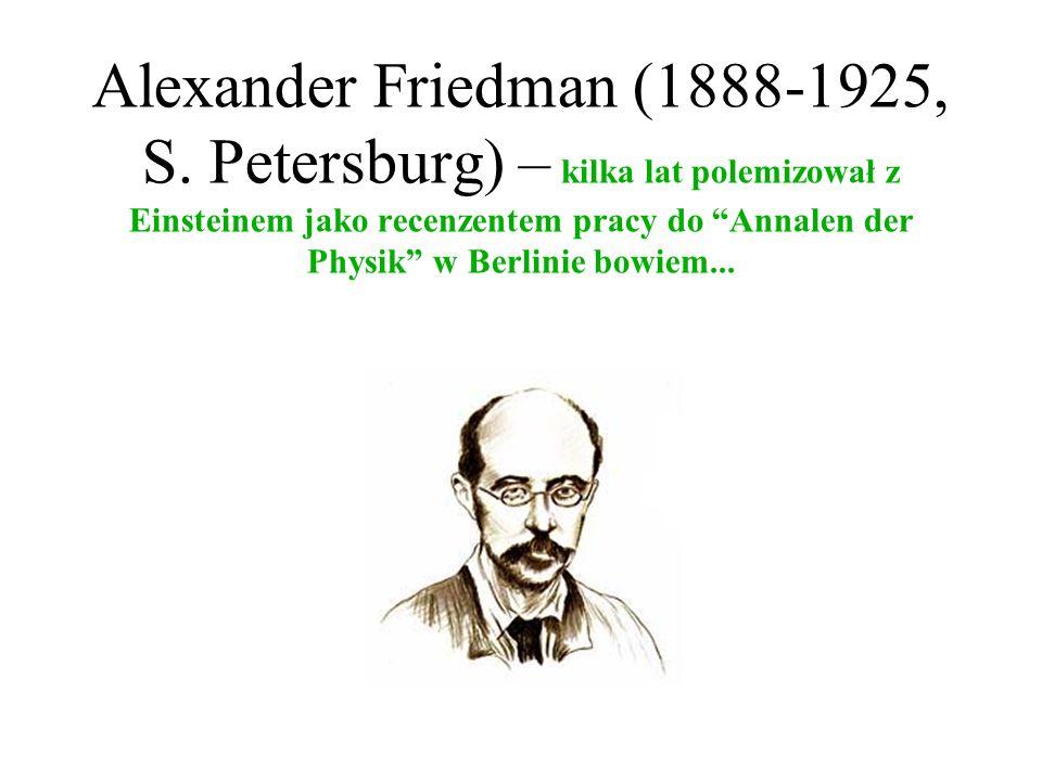 Alexander Friedman (1888-1925, S