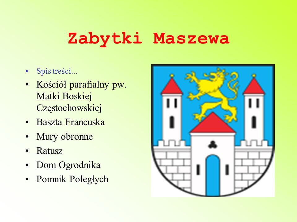 Zabytki Maszewa Kościół parafialny pw. Matki Boskiej Częstochowskiej