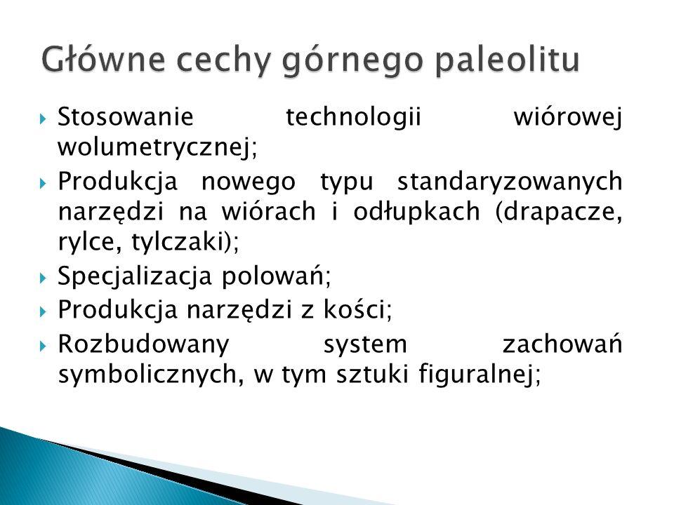 Główne cechy górnego paleolitu