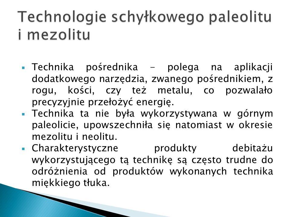 Technologie schyłkowego paleolitu i mezolitu