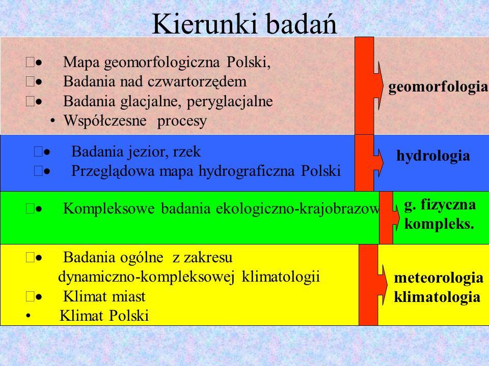 Kierunki badań · Mapa geomorfologiczna Polski,