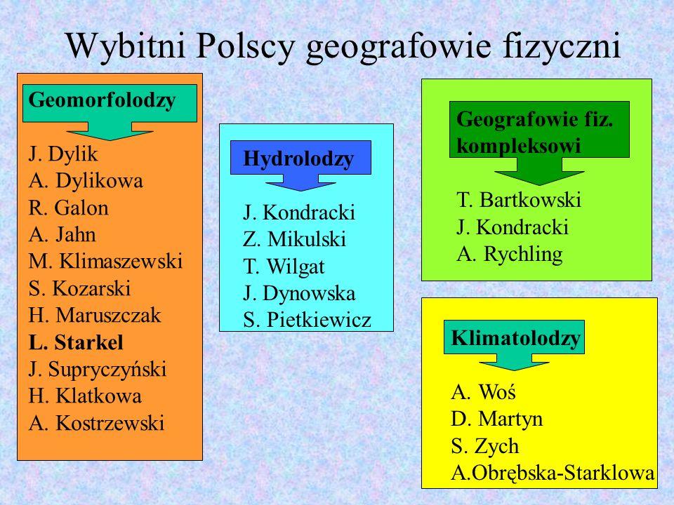 Wybitni Polscy geografowie fizyczni