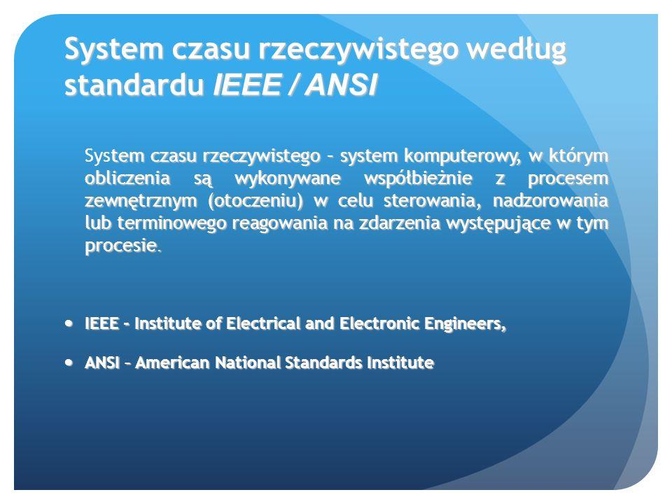 System czasu rzeczywistego według standardu IEEE / ANSI