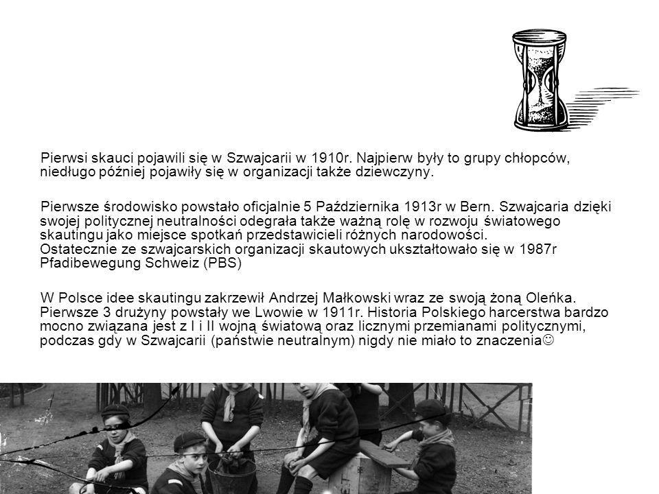 Pierwsi skauci pojawili się w Szwajcarii w 1910r