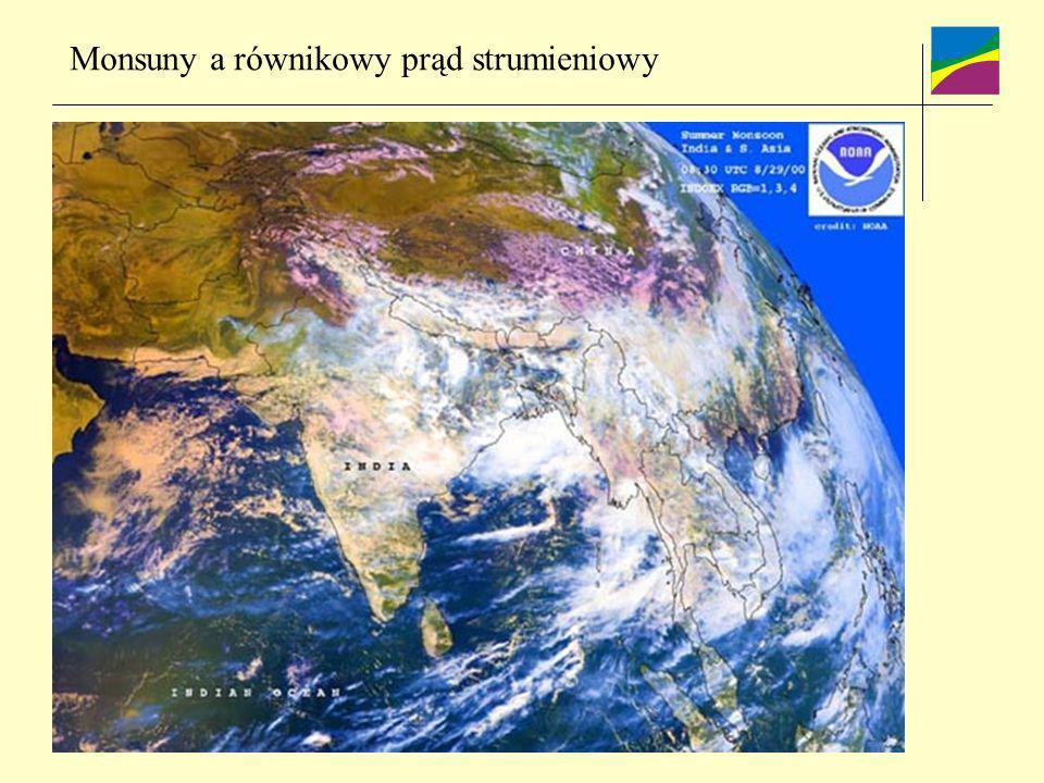 Monsuny a równikowy prąd strumieniowy