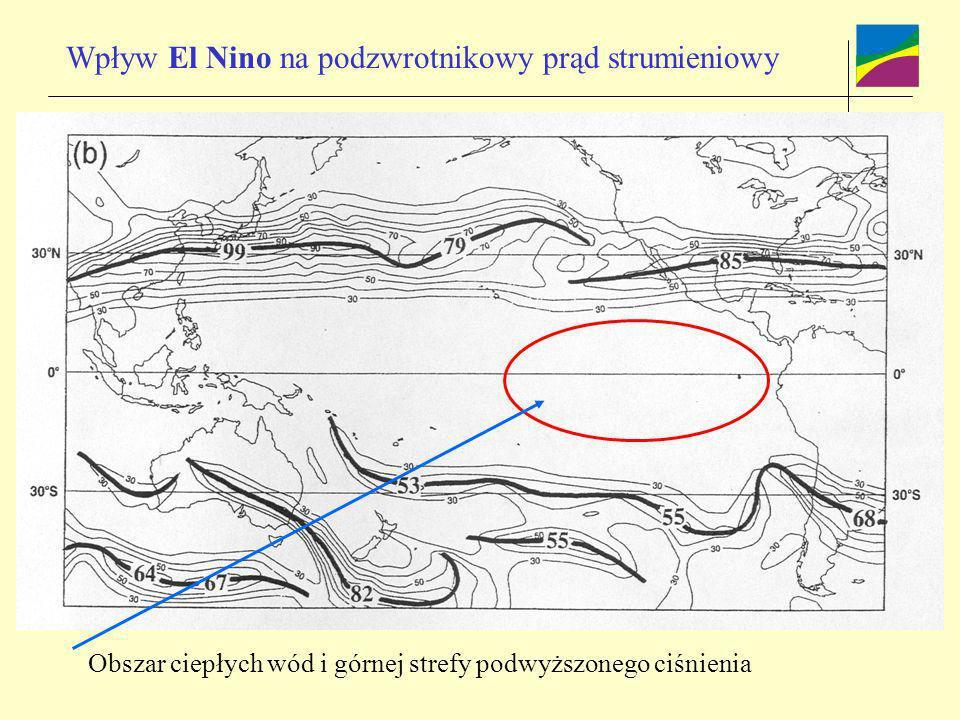 Wpływ El Nino na podzwrotnikowy prąd strumieniowy