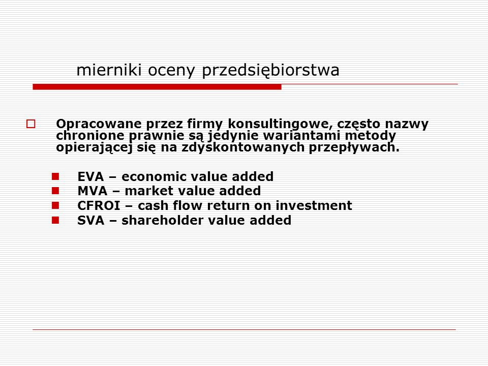 mierniki oceny przedsiębiorstwa