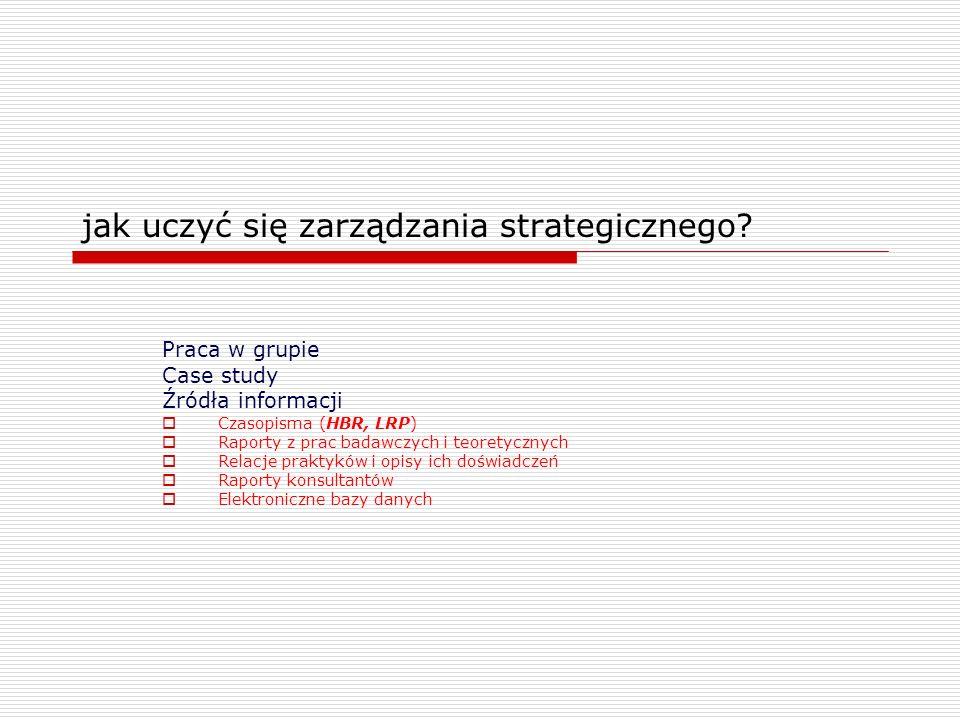 jak uczyć się zarządzania strategicznego