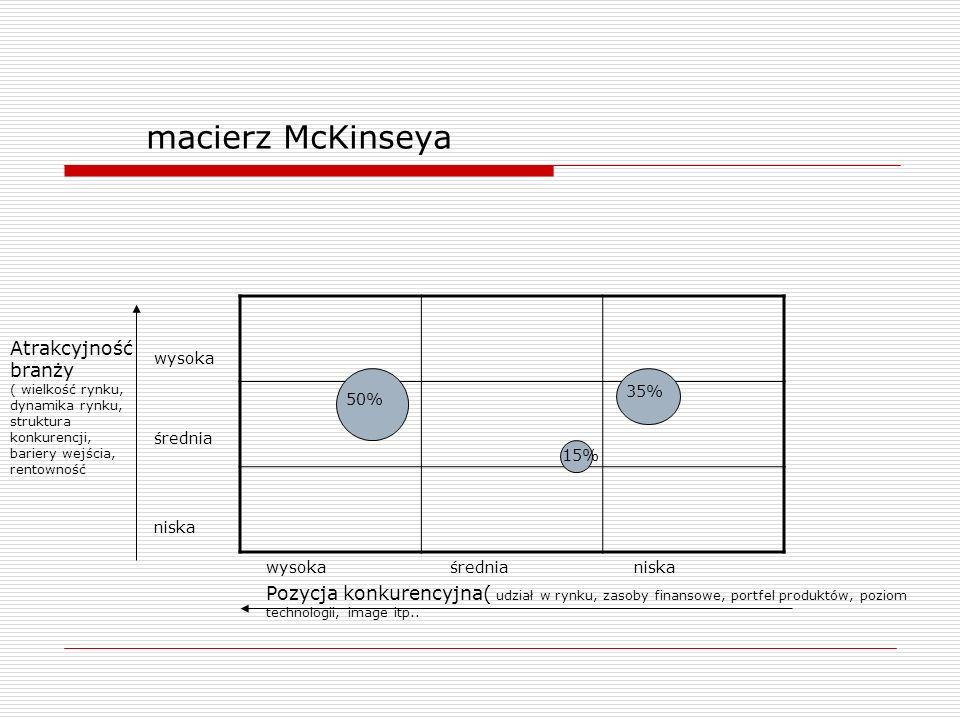 macierz McKinseya Atrakcyjność branży