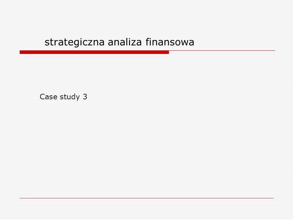 strategiczna analiza finansowa