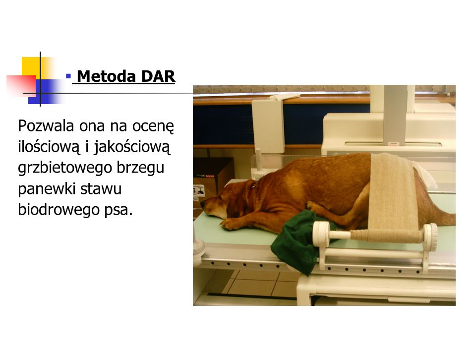 Metoda DAR Pozwala ona na ocenę. ilościową i jakościową.