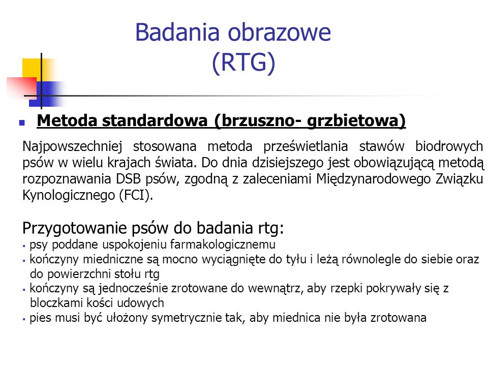 Badania obrazowe (RTG)