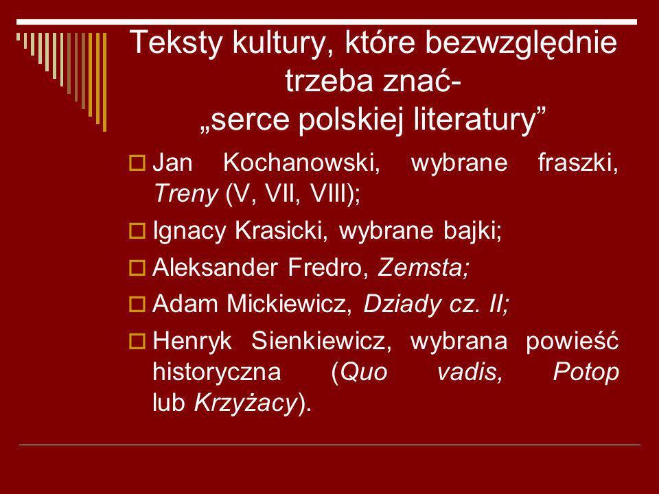 """Teksty kultury, które bezwzględnie trzeba znać- """"serce polskiej literatury"""