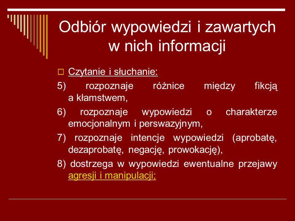 Odbiór wypowiedzi i zawartych w nich informacji