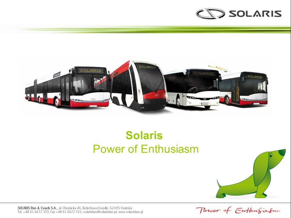 Solaris Power of Enthusiasm