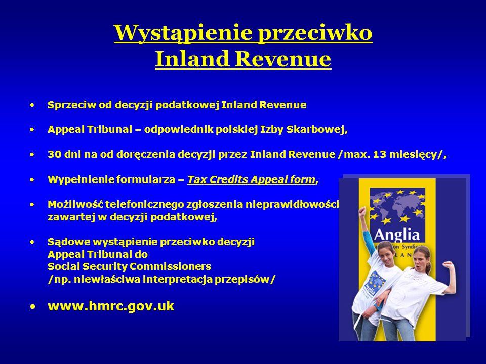 Wystąpienie przeciwko Inland Revenue