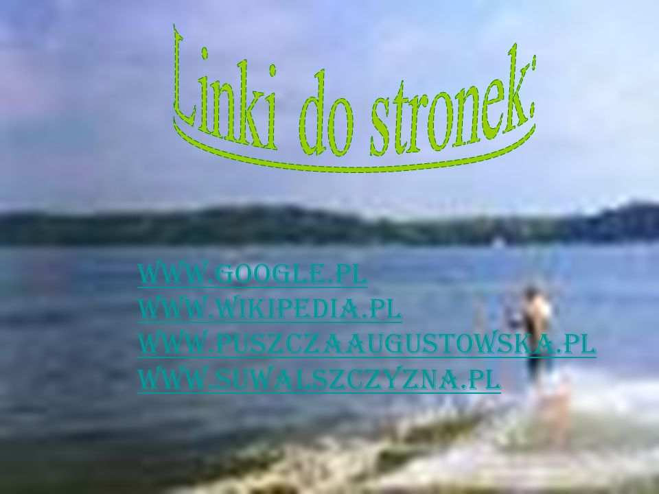 Linki do stronek: www.google.pl www.wikipedia.pl