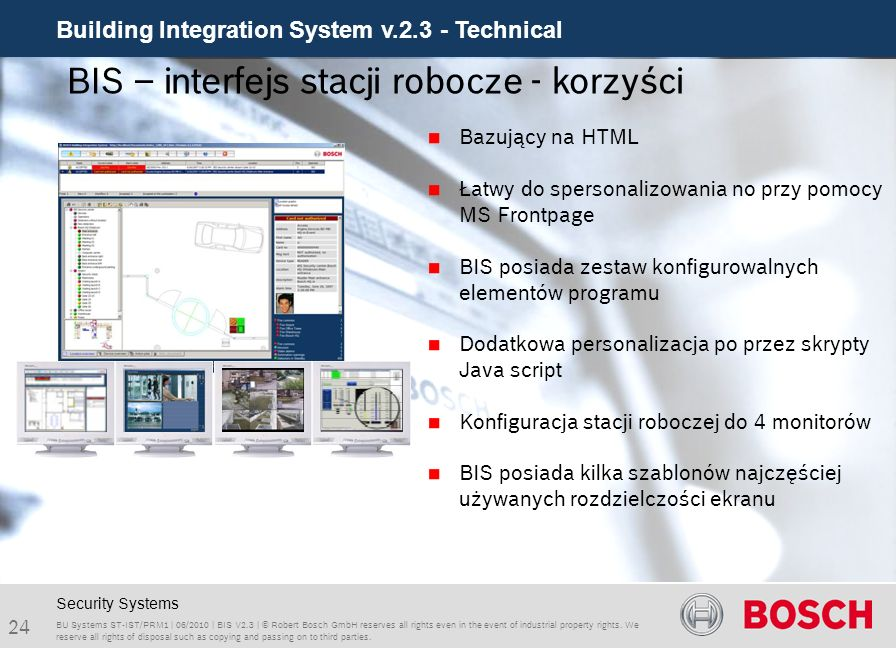 BIS – interfejs stacji robocze - korzyści